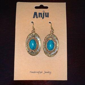 Mixed Metal Turquoise Earrings